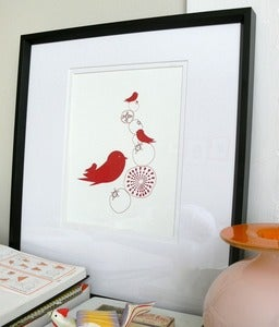 Image of Pommebirds Letterpress Print limited edition