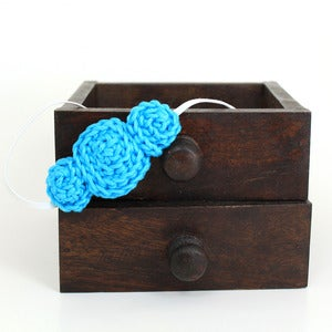 Image of Three Rosette headband in Turquoise