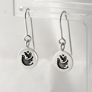 Image of Birds Token Earrings | Silver {35% OFF + FREE SHIPPING}