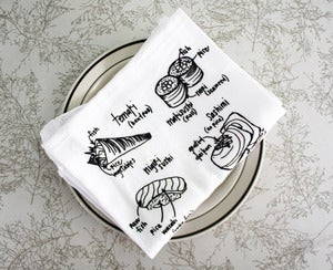 Image of Sushi Lover - floursack dish towels