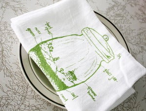 Image of Terrarium diagram floursack towel