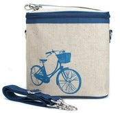 Image of So Young Mother Large Cooler Bag - Blue Bicycle
