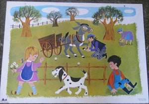 Image of AFFICHE SCOLAIRE DANIEL ET VALRIE REF.528