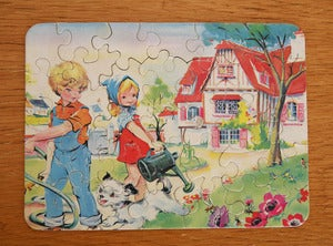 Image of PUZZLE VINTAGE ENFANTS JARDINANT REF.832