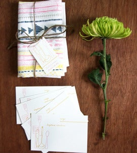 Image of Studio SloMo & Leah Duncan Recipe Cards /  Tea Towel Set