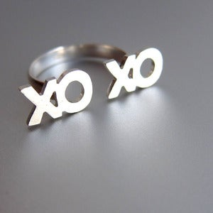 Image of xoxo Ring, Hugs and Kisses - Handmade Silver Ring