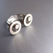 Image of Mr. Googly Eyes - Handmade Silver Ring