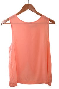Back Button Light Coral Tank