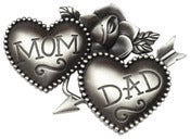 Image of Mom & Dad Tattoo Charm / Necklace