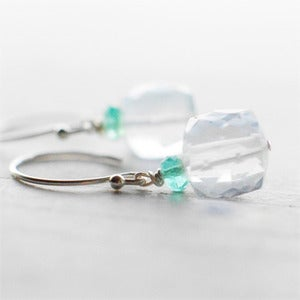ICE | Harper Street :  gemstone earrings faceted gem