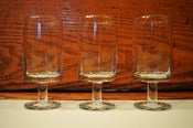 Image of Set of 8 Mid Century Style Wine Glasses