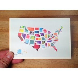 Image of Tangram States Postcards