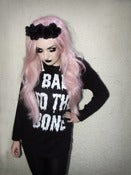 Image of Black Glitter 'Bad to the Bone' Longsleeve Tee