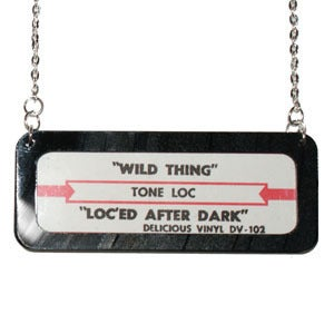 Image of Vintage Jukebox Strip Necklace - Horizontal