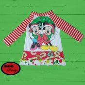 Image of Mickey & Minnie Mouse holiday dress - Size 6-12 Months