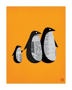 Image of Penguin News Art Print Unframed