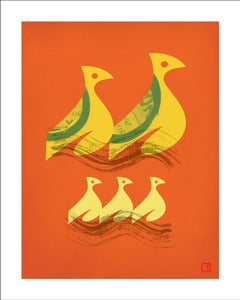 Image of Speedy Birds Art Print Unframed