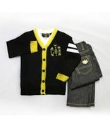 Image of Long Sleeve Cardigan 3pc Set Toddler