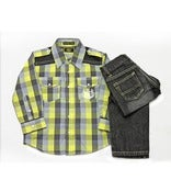 Image of L/S Checker Woven 2pc Set Toddler