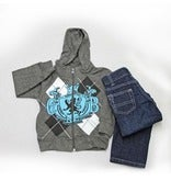 Image of L/S Crest Hoody 2pc Set Toddler
