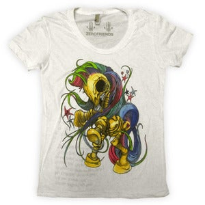 Image of My Little Boney White | By Alex Pardee | Girly Shirt