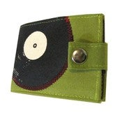 Image of Record ) Green w/ Snap) Bifold Wallet