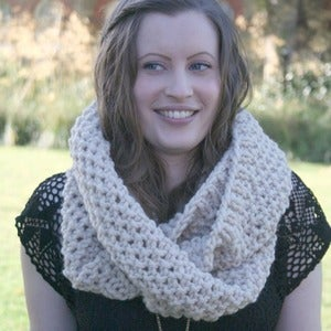Image of Chunky cowl snood double wrap