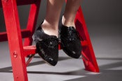 Image of BLACK GLITTER OXFORDS