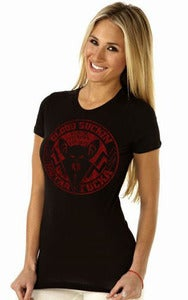 "Image of Black Victory - ""Blood Suckin"" GIRLY T RED"