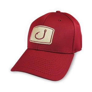 Image of Iconic Fitted Fishing Hat - Garnet