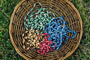 Image of Large Funky Paper Bead Necklaces ~ Green