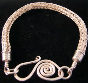 Image of Sterling Viking Knit Bracelet