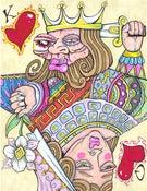 Image of TOPSY-TURVY: King & Queen of Hearts PRINT