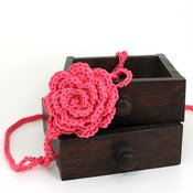 Image of Rose Headband in Hot Pink