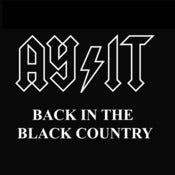 Image of AY-IT Back in The Black Country, Bostin Design - Black, available as Tee Shirt and Poster