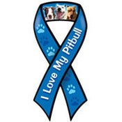 Image of &quot;I Love My Pit Bull&quot; Ribbon Car Magnet