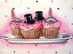 Image of Top Hats & tiaras cupcakes