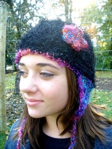 Crochet This! Sari Silk Beanie and Ear Flap Hat $2.99