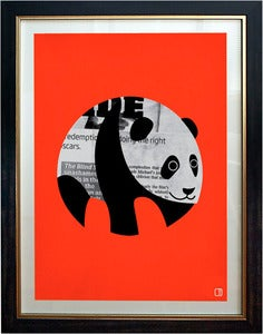 Image of Panda News Art Print Framed