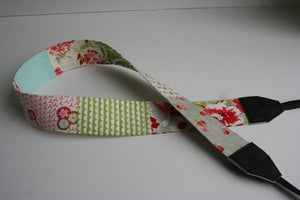 Image of patchwork camera strap :: colorway forty-one