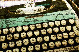 "Image of Vintage Typewriter ""Writing Machine no. 2"" Fine Art 8x12"" Matte Photography Print, Typewriter Keys,"