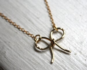 Image of Gold Fill Bow Necklace