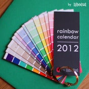 Image of NEW ! Rainbow Calendar 2012