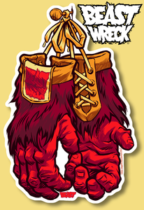 Image of &quot;GORILLA GLOVES&quot; diecut sticker
