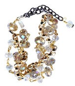 Image of Iryn Boho-Chic Clear Crystal Bracelet