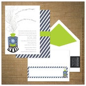 Image of Invitations | Baby Shower<BR>{Metro Train}