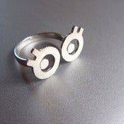 Image of Miss Googly Eyes - Handmade Silver Ring