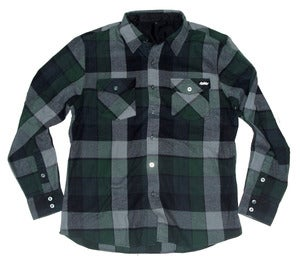 Image of Autumn'atic woven flannel *green