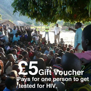 Image of 5 Give-a-Gift Card &amp; Voucher: Pays For One Person to Get Tested For HIV
