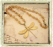 Jewelry: &quot;Topaz Rosary Dragonfly&quot;